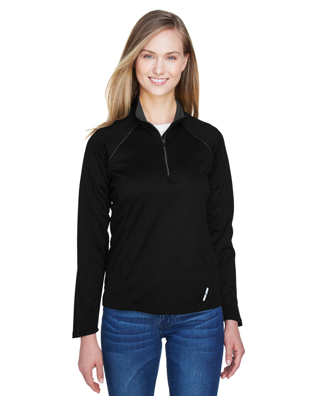 North End Ladies' Radar Quarter-Zip Performance Long-Sleeve Top BLACK
