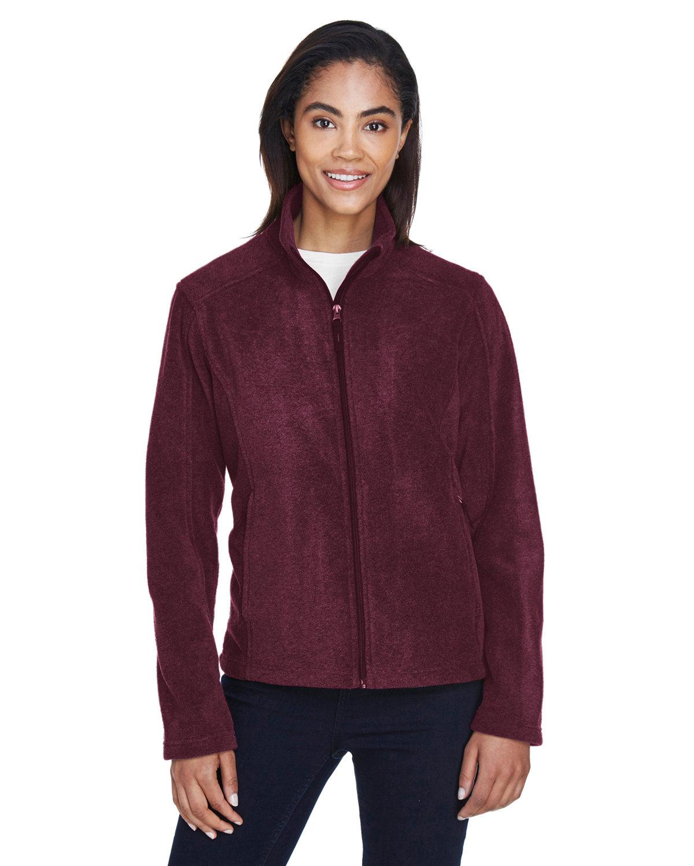 Core 365 Ladies' Journey Fleece Jacket BURGUNDY
