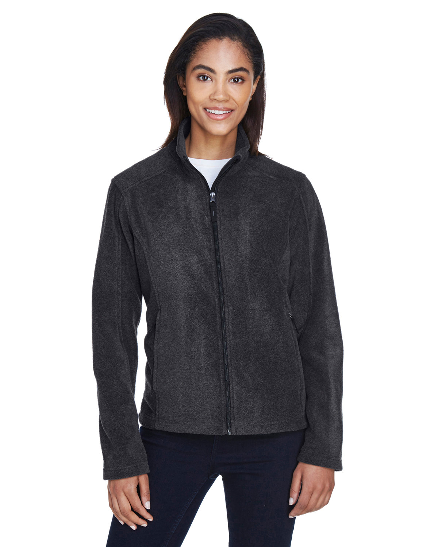 Core 365 Ladies' Journey Fleece Jacket HEATHER CHARCOAL