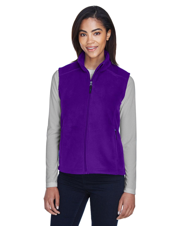 Core 365 Ladies' Journey Fleece Vest CAMPUS PURPLE