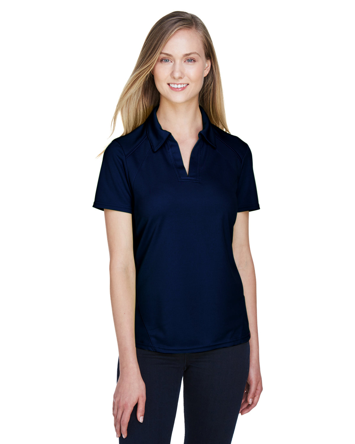 North End Ladies' Recycled Polyester Performance Piqué Polo NIGHT