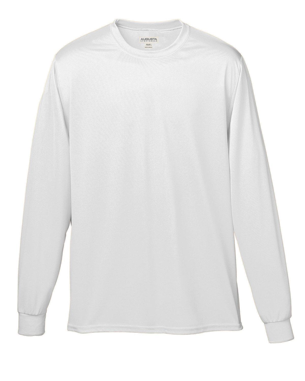 Augusta Sportswear Adult Wicking Long-Sleeve T-Shirt WHITE