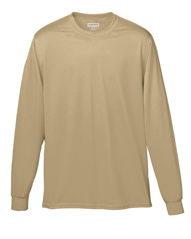 Augusta Sportswear Adult Wicking Long-Sleeve T-Shirt VEGAS GOLD