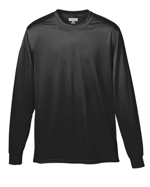 Augusta Sportswear Adult Wicking Long-Sleeve T-Shirt BLACK
