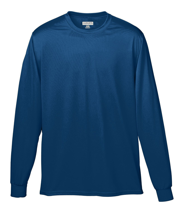 Augusta Sportswear Adult Wicking Long-Sleeve T-Shirt NAVY