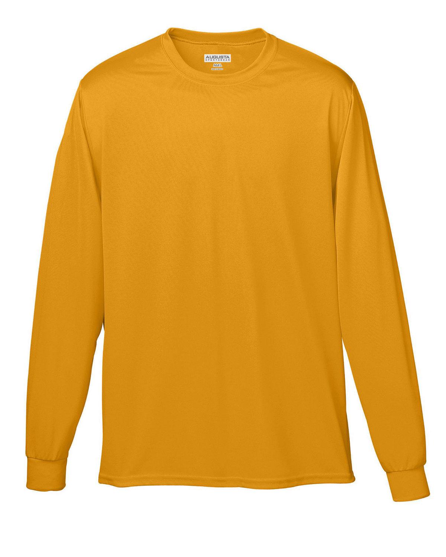 Augusta Sportswear Adult Wicking Long-Sleeve T-Shirt GOLD