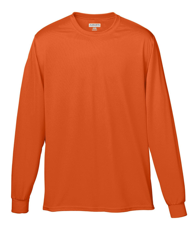 Augusta Sportswear Adult Wicking Long-Sleeve T-Shirt ORANGE