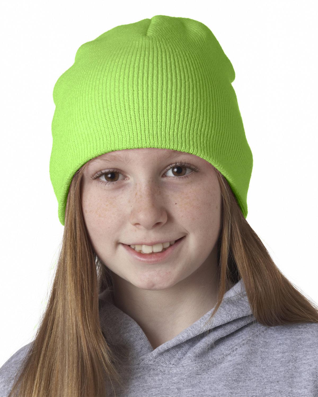 UltraClub Knit Beanie LIME GREEN