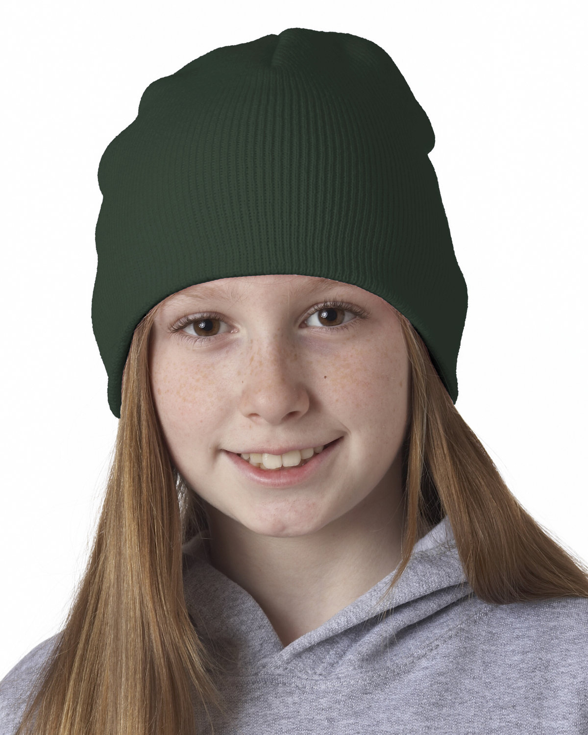 UltraClub Knit Beanie FOREST GREEN