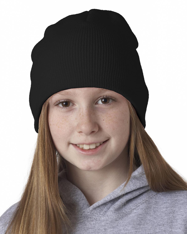 UltraClub Knit Beanie BLACK