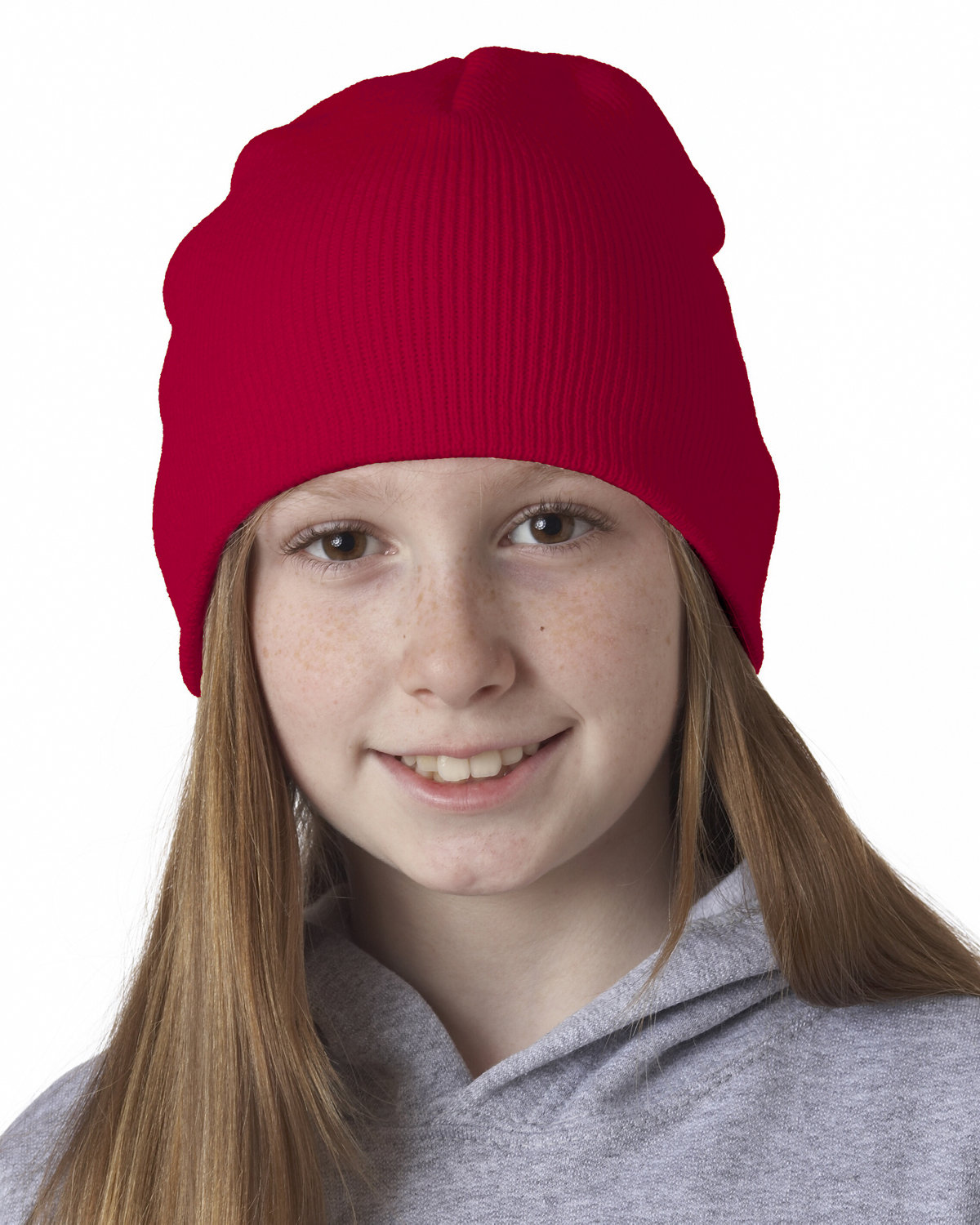 UltraClub Knit Beanie RED