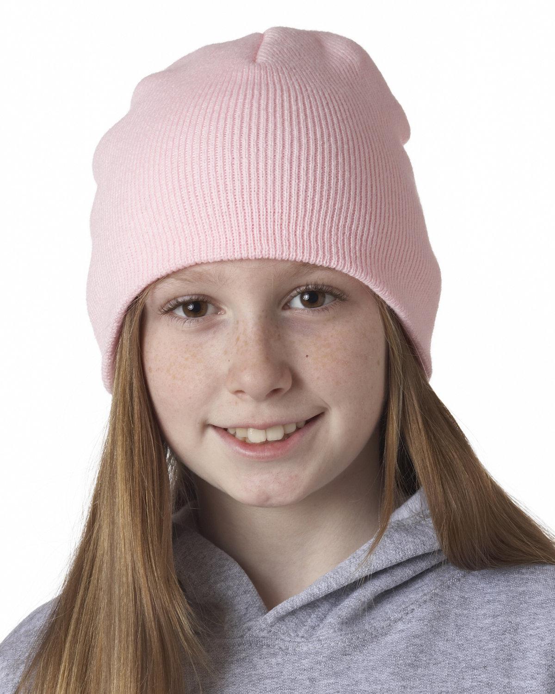 UltraClub Knit Beanie PINK