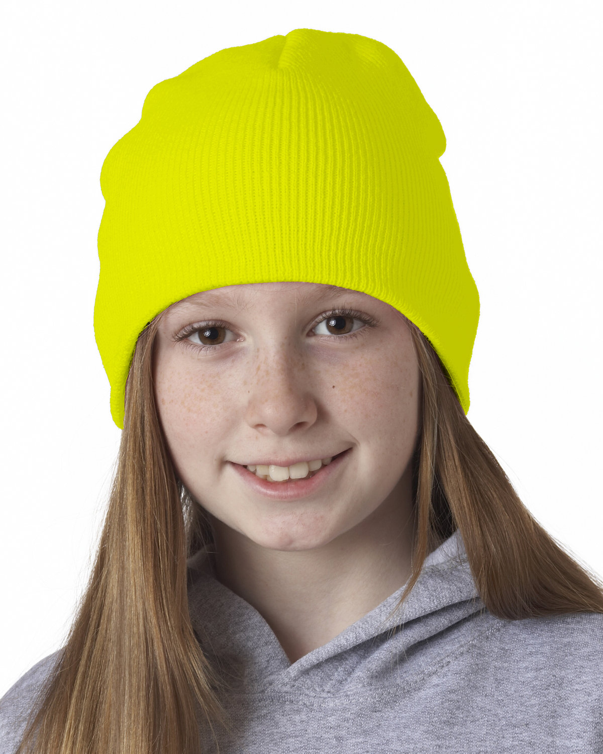 UltraClub Knit Beanie SAFETY YELLOW