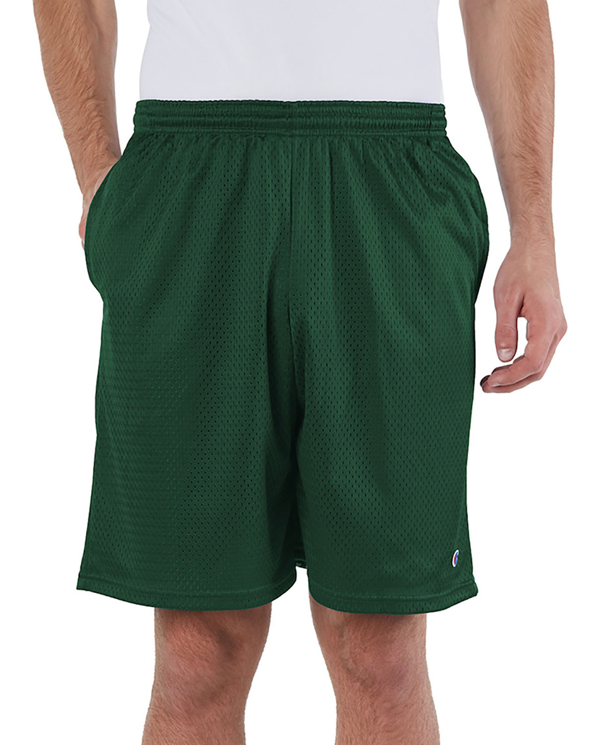 Champion Adult Mesh Short with Pockets ATHLTIC DK GREEN
