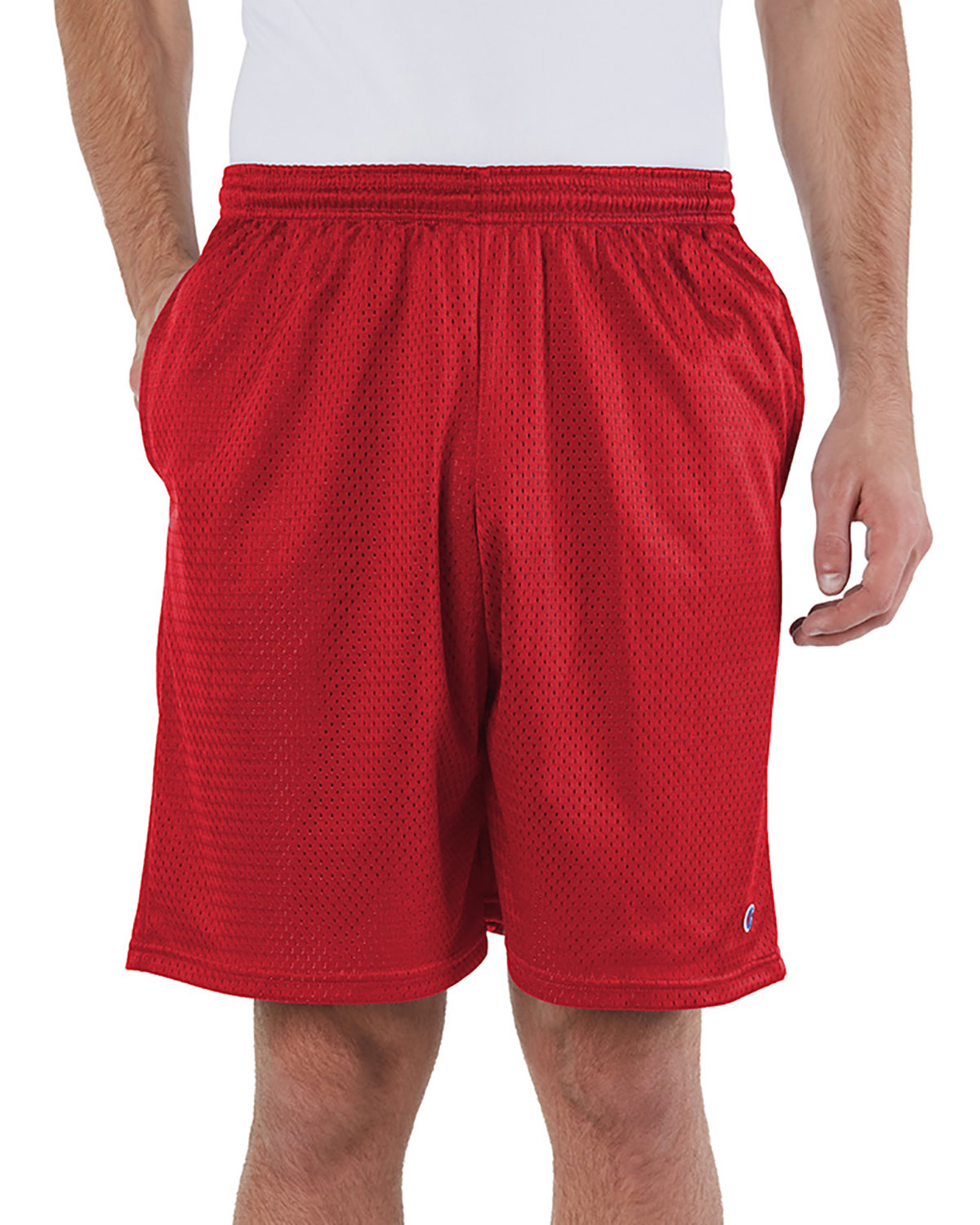 Champion Adult Mesh Short with Pockets SCARLET