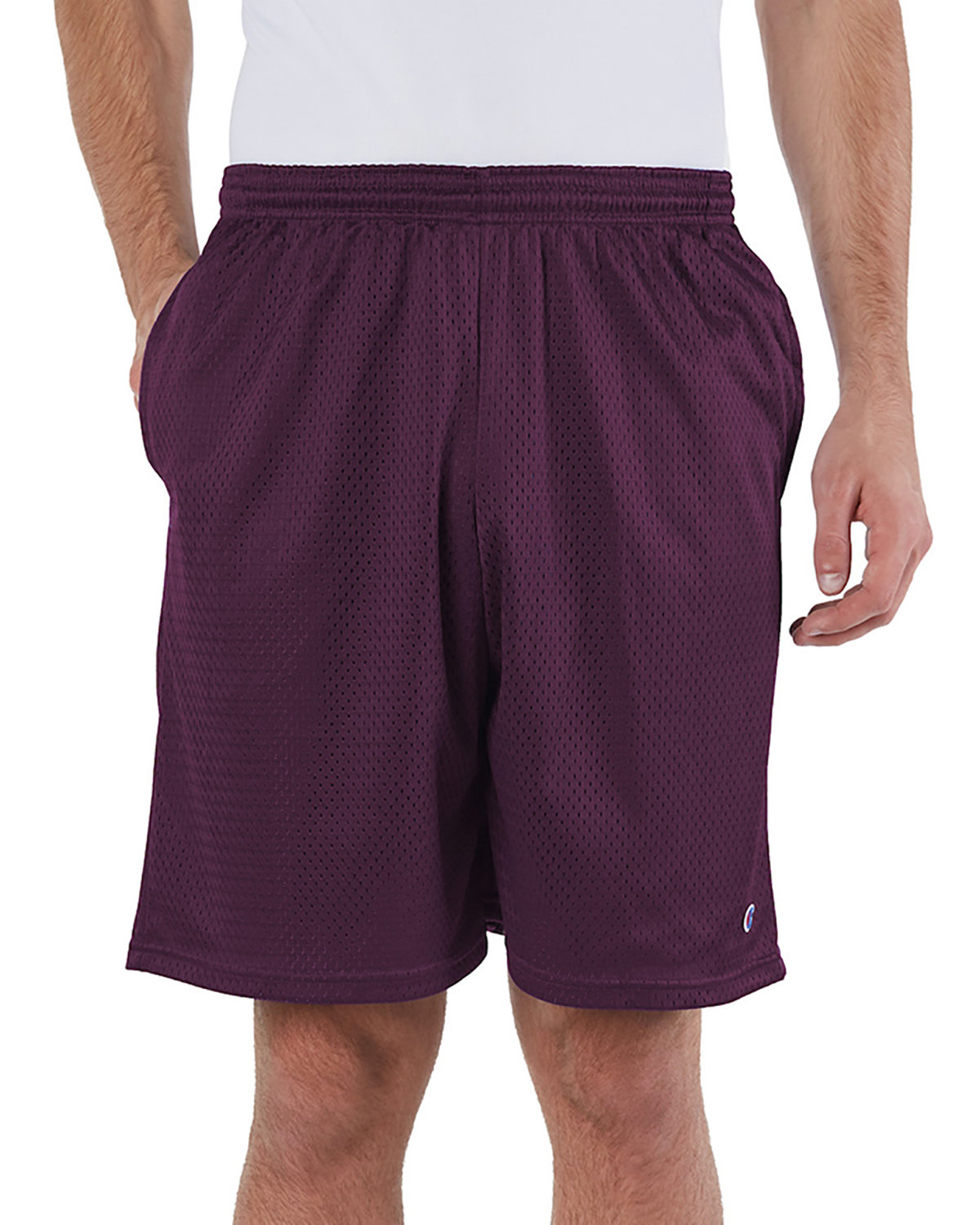 Champion Adult Mesh Short with Pockets MAROON