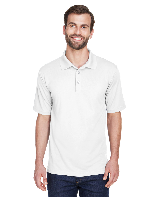 UltraClub Men's Cool & Dry MeshPiqué Polo WHITE