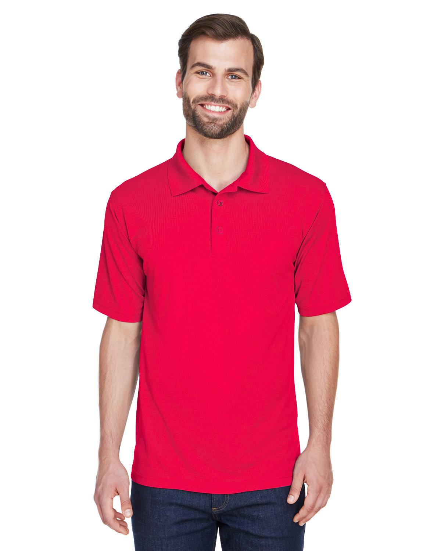 UltraClub Men's Cool & Dry MeshPiqué Polo RED