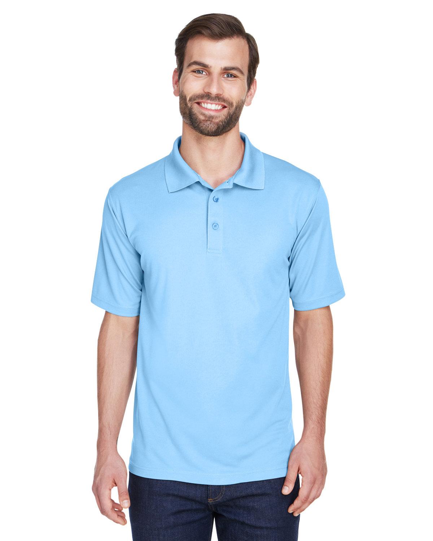UltraClub Men's Cool & Dry MeshPiqué Polo COLUMBIA BLUE