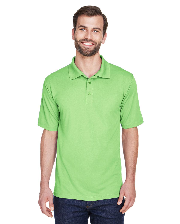 UltraClub Men's Cool & Dry MeshPiqué Polo LIGHT GREEN
