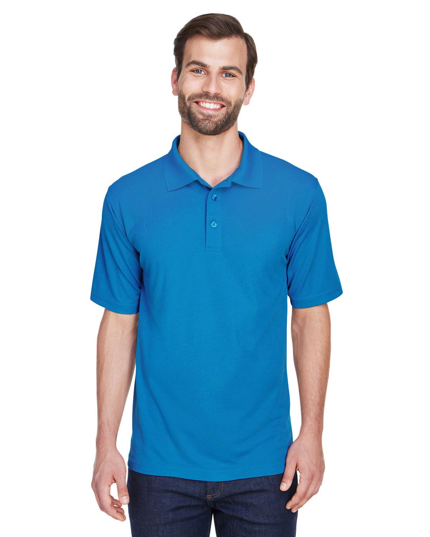 UltraClub Men's Cool & Dry MeshPiqué Polo PACIFIC BLUE