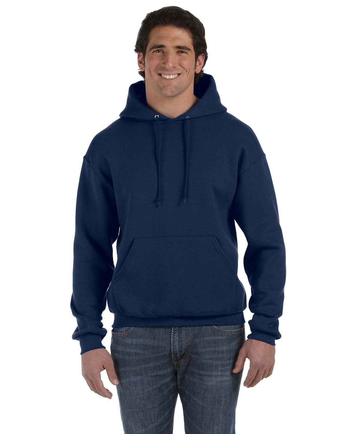 Fruit of the Loom Adult Supercotton™ Pullover Hooded Sweatshirt J NAVY