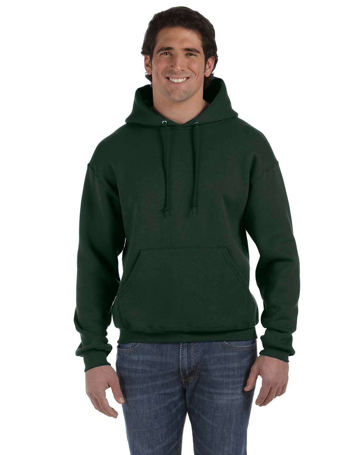 Fruit of the Loom Adult Supercotton™ Pullover Hooded Sweatshirt FOREST GREEN
