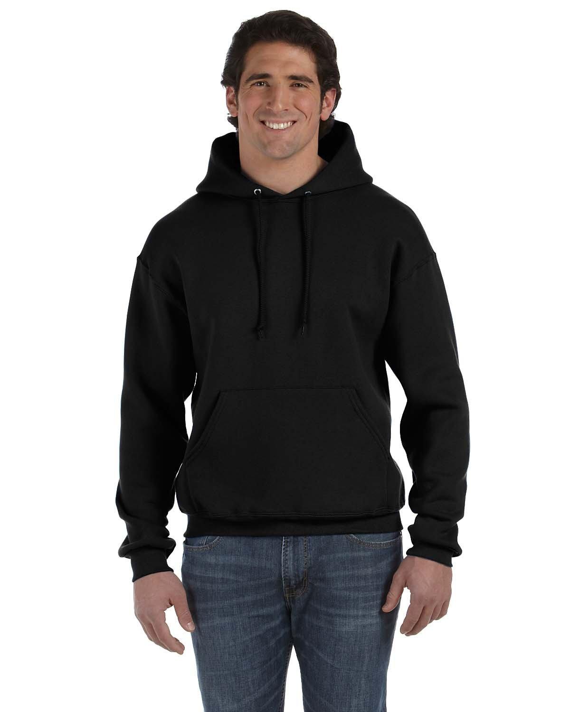 Fruit of the Loom Adult Supercotton™ Pullover Hooded Sweatshirt BLACK