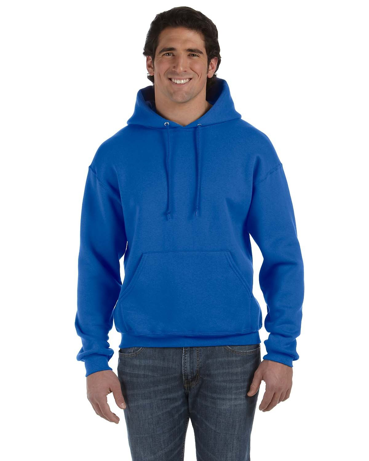 Fruit of the Loom Adult Supercotton™ Pullover Hooded Sweatshirt ROYAL