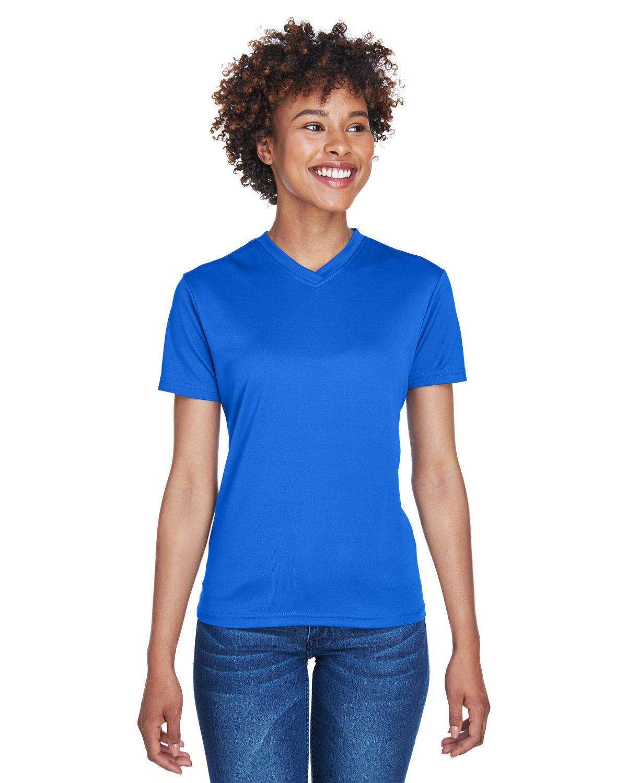 UltraClub Ladies' Cool & Dry Sport V-Neck T-Shirt ROYAL