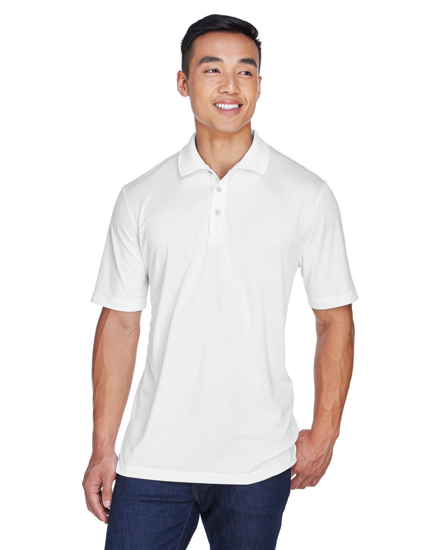 UltraClub Men's Cool & Dry Sport Polo WHITE
