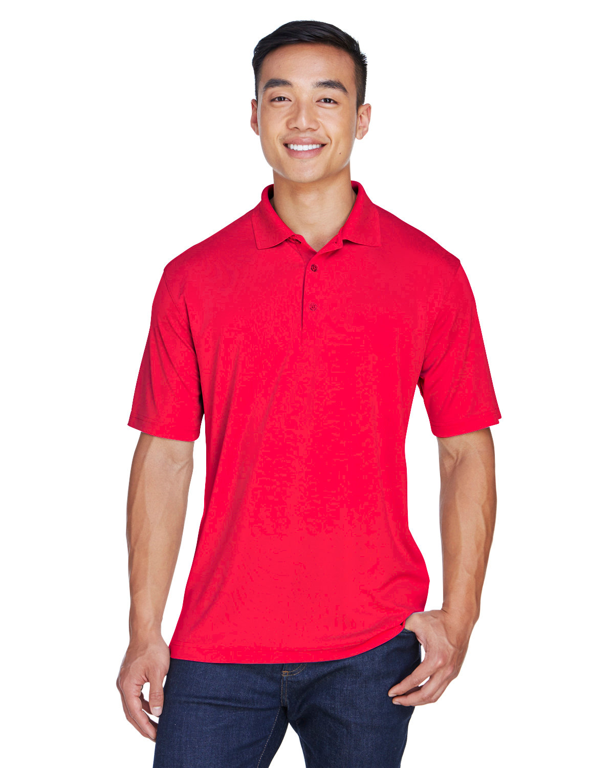 UltraClub Men's Cool & Dry Sport Polo RED