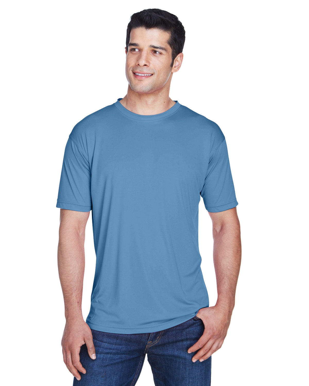 UltraClub Men's Cool & Dry Sport Performance InterlockT-Shirt INDIGO