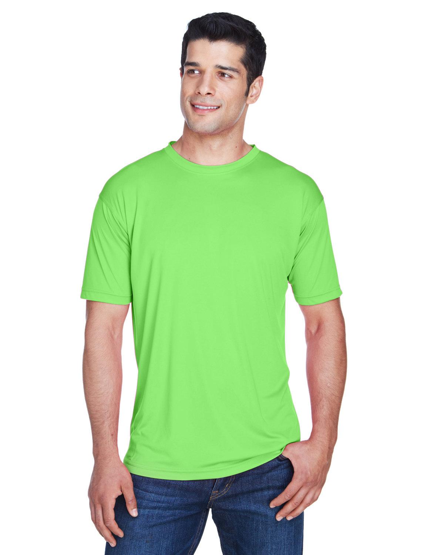 UltraClub Men's Cool & Dry Sport Performance InterlockT-Shirt LIME