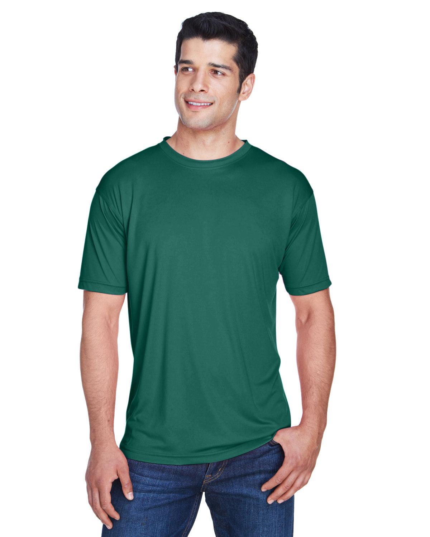 UltraClub Men's Cool & Dry Sport Performance InterlockT-Shirt FOREST GREEN