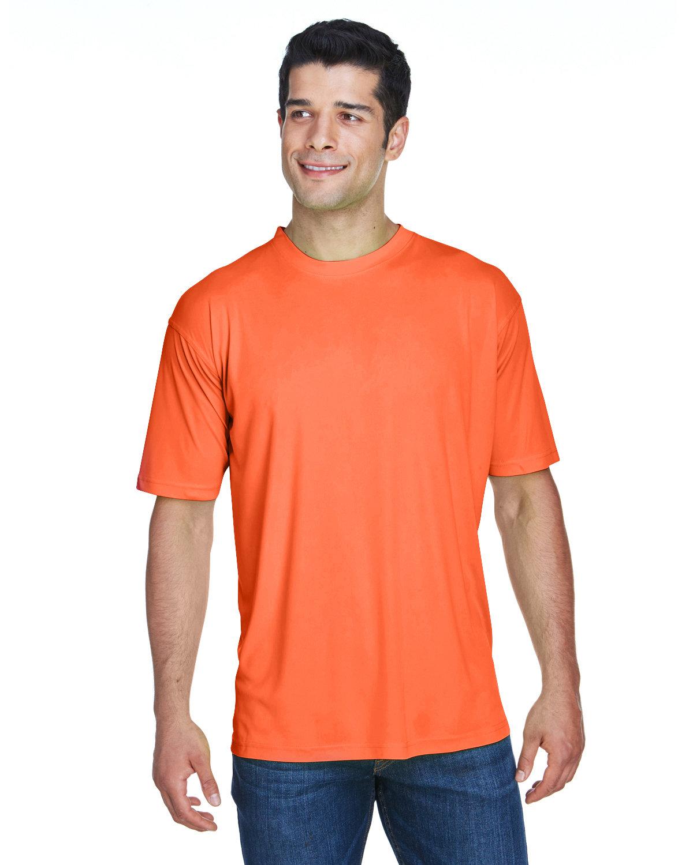 UltraClub Men's Cool & Dry Sport Performance InterlockT-Shirt BRIGHT ORANGE
