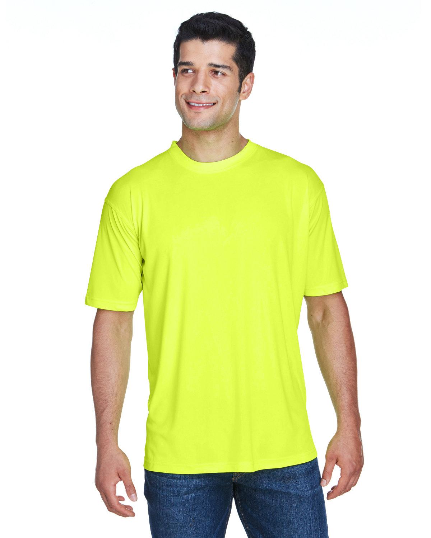 UltraClub Men's Cool & Dry Sport Performance InterlockT-Shirt BRIGHT YELLOW