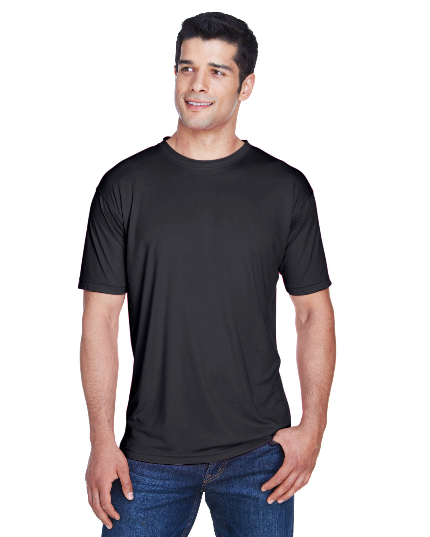 UltraClub Men's Cool & Dry Sport Performance InterlockT-Shirt BLACK
