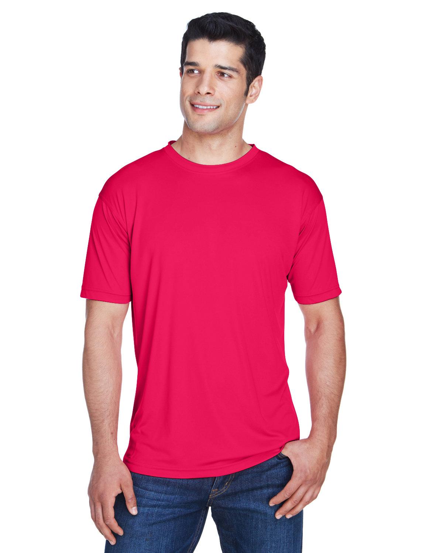 UltraClub Men's Cool & Dry Sport Performance InterlockT-Shirt RED