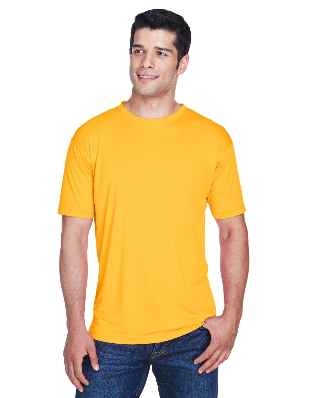 UltraClub Men's Cool & Dry Sport Performance InterlockT-Shirt GOLD
