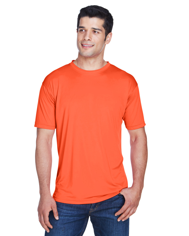 UltraClub Men's Cool & Dry Sport Performance InterlockT-Shirt ORANGE