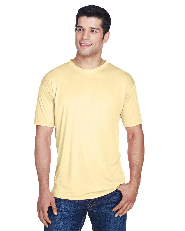 UltraClub Men's Cool & Dry Sport Performance InterlockT-Shirt BUTTER