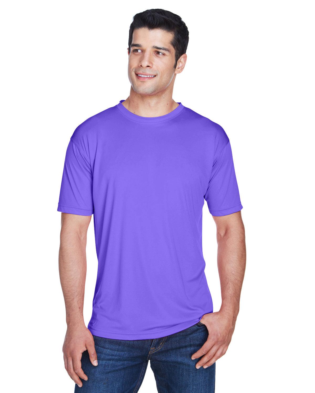 UltraClub Men's Cool & Dry Sport Performance InterlockT-Shirt PURPLE