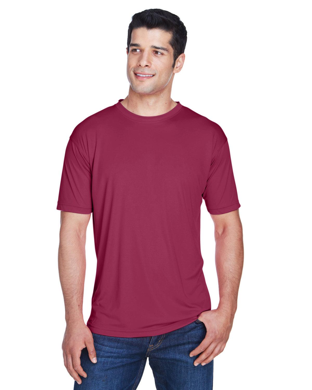 UltraClub Men's Cool & Dry Sport Performance InterlockT-Shirt MAROON