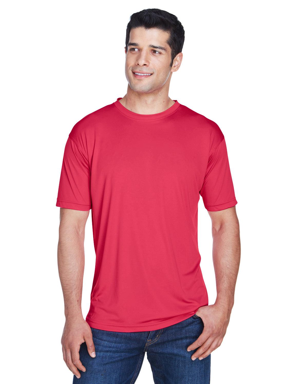UltraClub Men's Cool & Dry Sport Performance InterlockT-Shirt CARDINAL