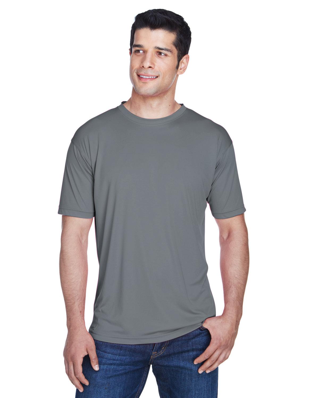 UltraClub Men's Cool & Dry Sport Performance InterlockT-Shirt CHARCOAL