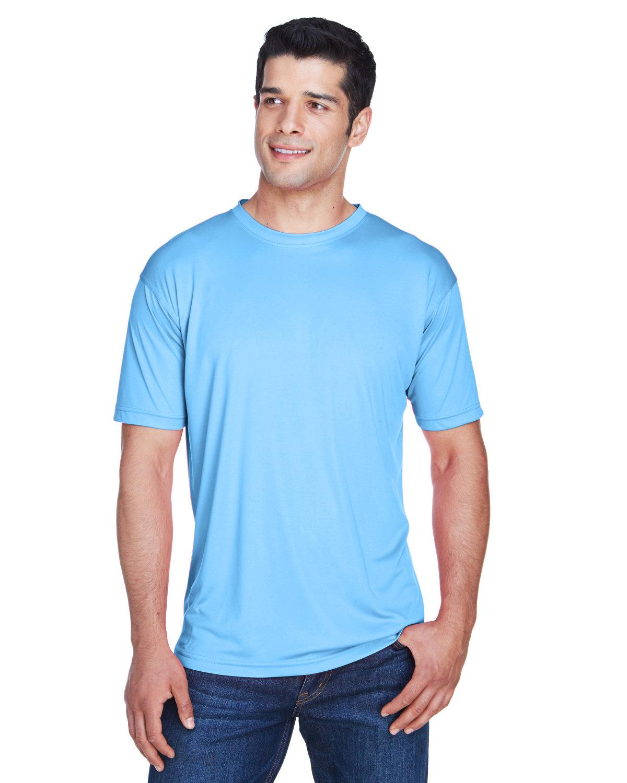 UltraClub Men's Cool & Dry Sport Performance InterlockT-Shirt COLUMBIA BLUE