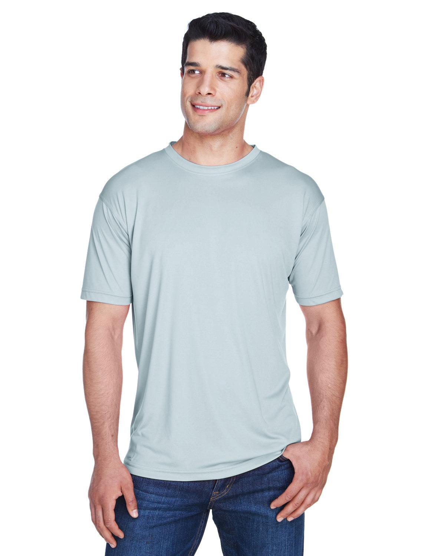 UltraClub Men's Cool & Dry Sport Performance InterlockT-Shirt GREY