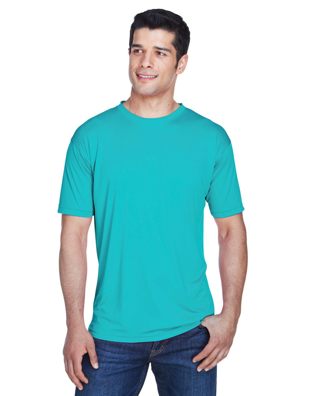 UltraClub Men's Cool & Dry Sport Performance InterlockT-Shirt JADE