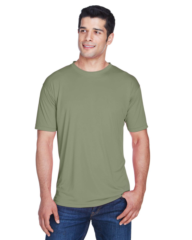 UltraClub Men's Cool & Dry Sport Performance InterlockT-Shirt MILITARY GREEN